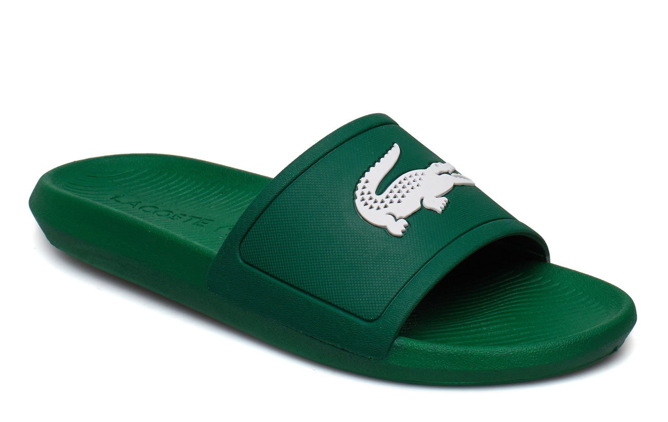 f935eb10286d Croco Slide 119 1cma (Grn/wht Syn) (£29.25) - Lacoste Shoes ...