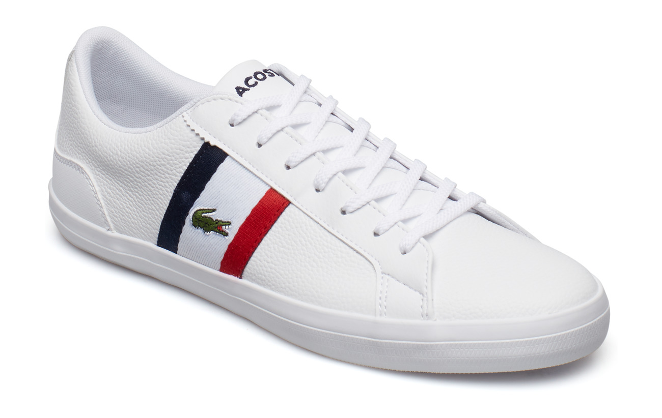 62ee939ce9 Lerond 119 3 Cma (Wht red nvy Lth syn) (99 €) - Lacoste Shoes ...