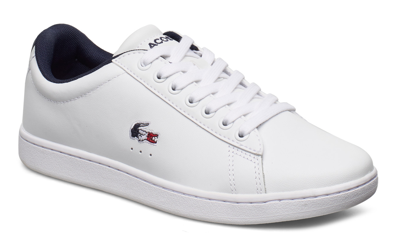 Lacoste Shoes CARNABY EVO TRI 1SFA - WHT/NVY/RED LTH/SYN