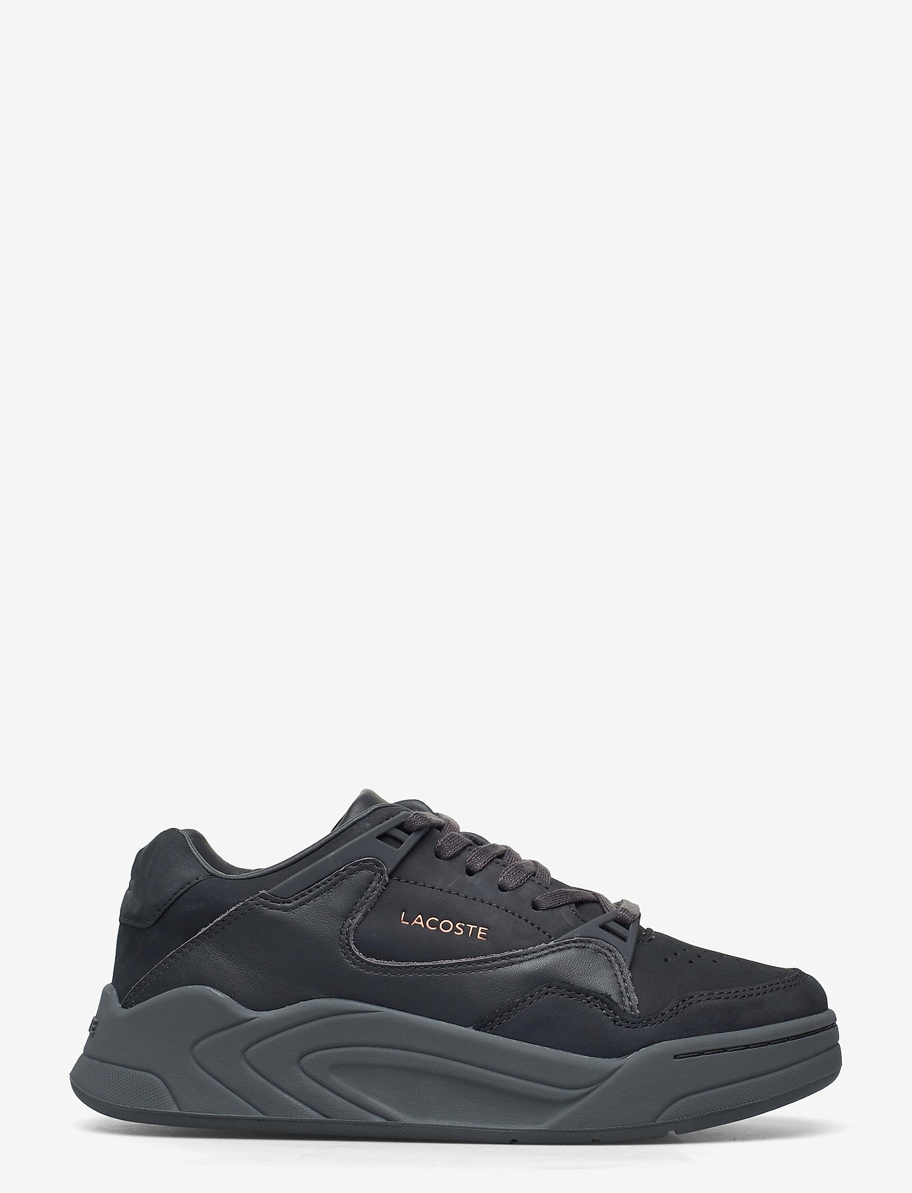 Lacoste Shoes - COURT SLAM 419 1 SFA - lage sneakers - dk gry/dk gry lth - 1