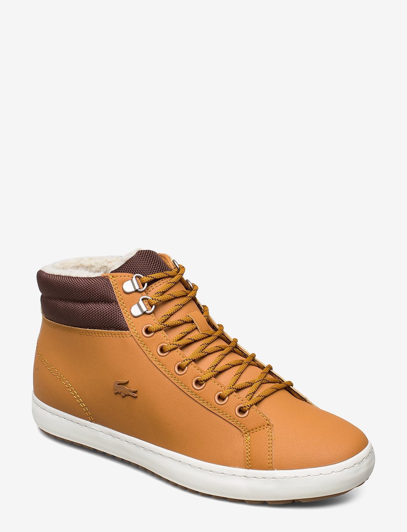 Lacoste Shoes - STRGHTSETHERM4191CMA - korkeavartiset tennarit - tan/brw lth