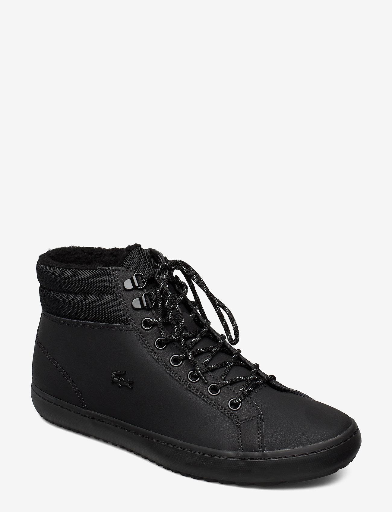 Lacoste Shoes - STRGHTSETHERM4192CMA - korkeavartiset tennarit - blk/blk lth