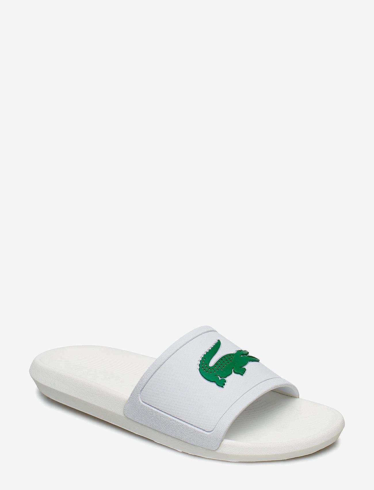 Lacoste Shoes - CROCO SLIDE 119 1CMA - pool sliders - wht/grn syn - 0