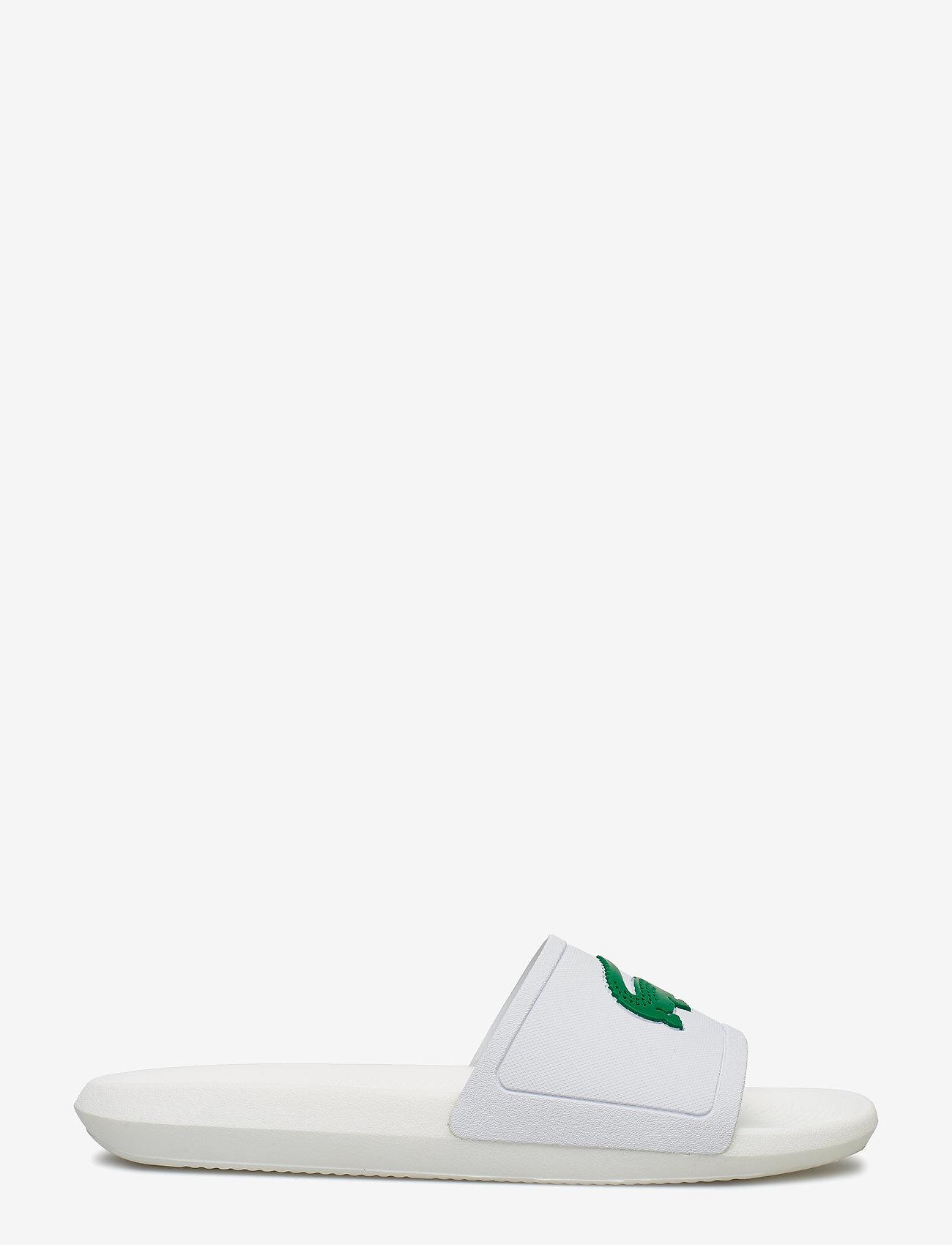 Lacoste Shoes - CROCO SLIDE 119 1CMA - pool sliders - wht/grn syn - 1