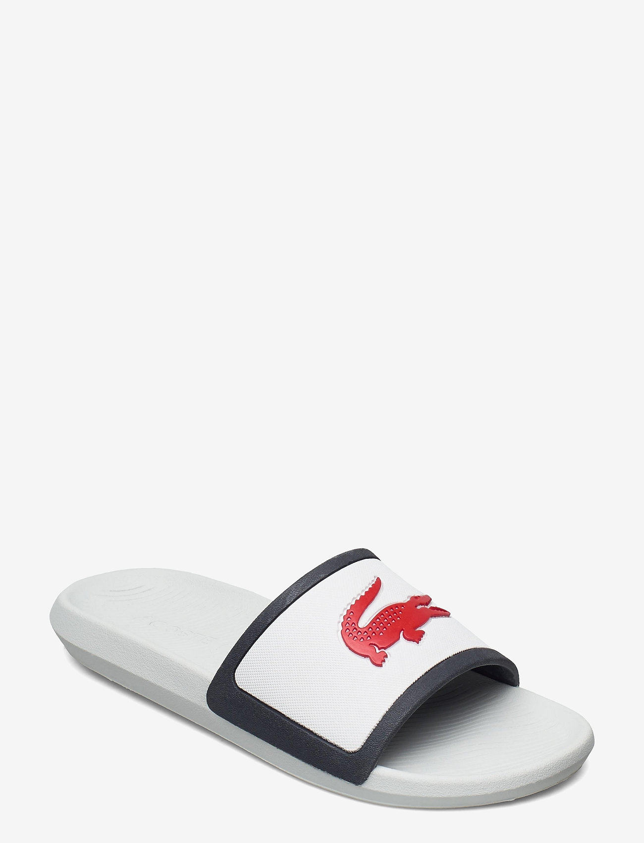 Lacoste Shoes - CROCO SLIDE TRI3 CMA - pool sliders - wht/nvy/red syn/syn - 0