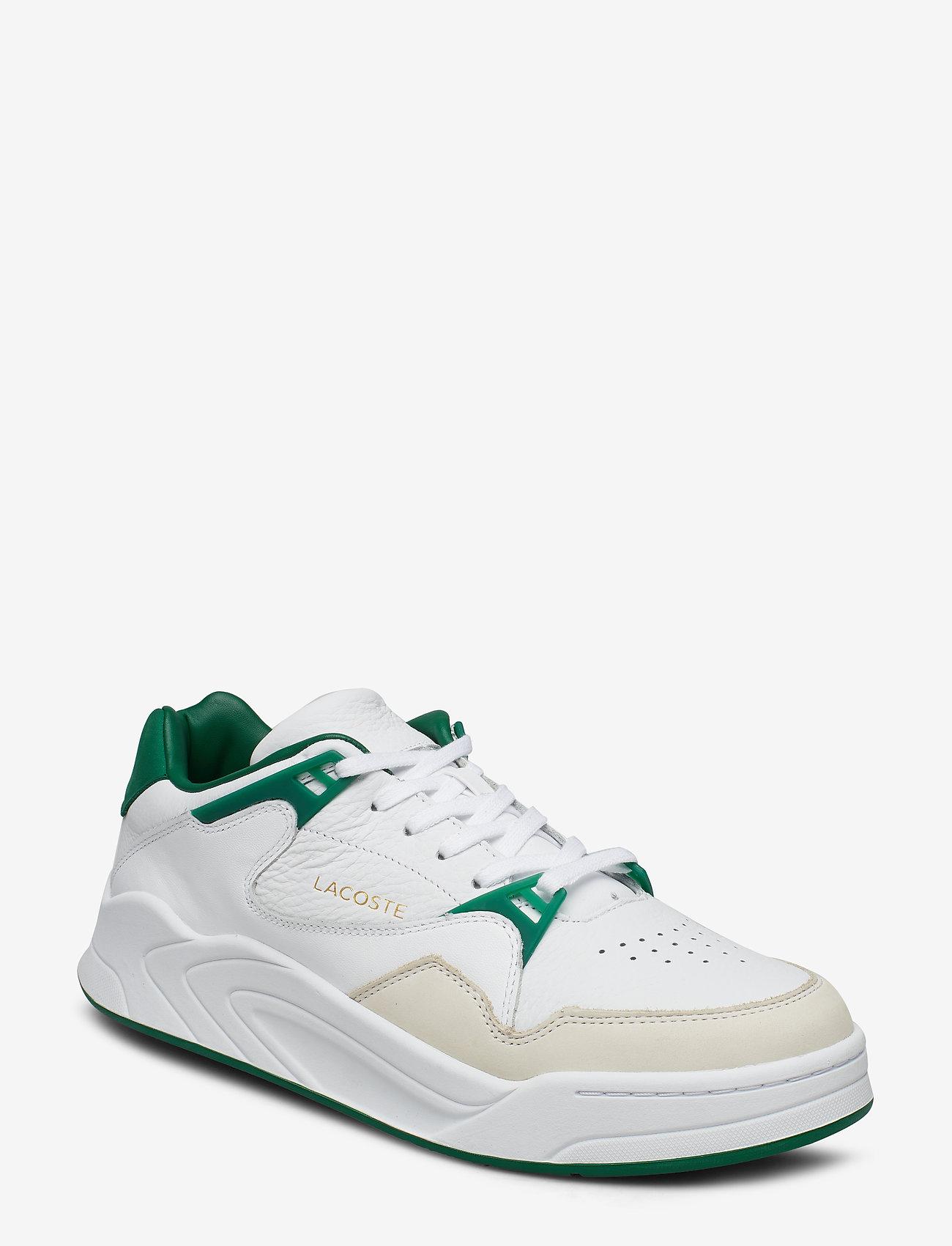 Lacoste Shoes - COURT SLAM 319 2 SMA - matalavartiset tennarit - wht/grn lth
