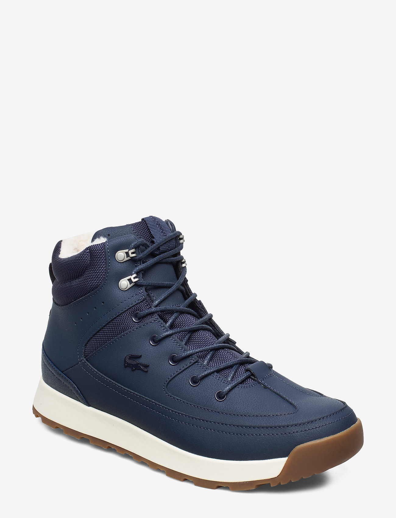 Lacoste Shoes - URBAN BREAKER4191CMA - korkeavartiset tennarit - nvy/off wht lth