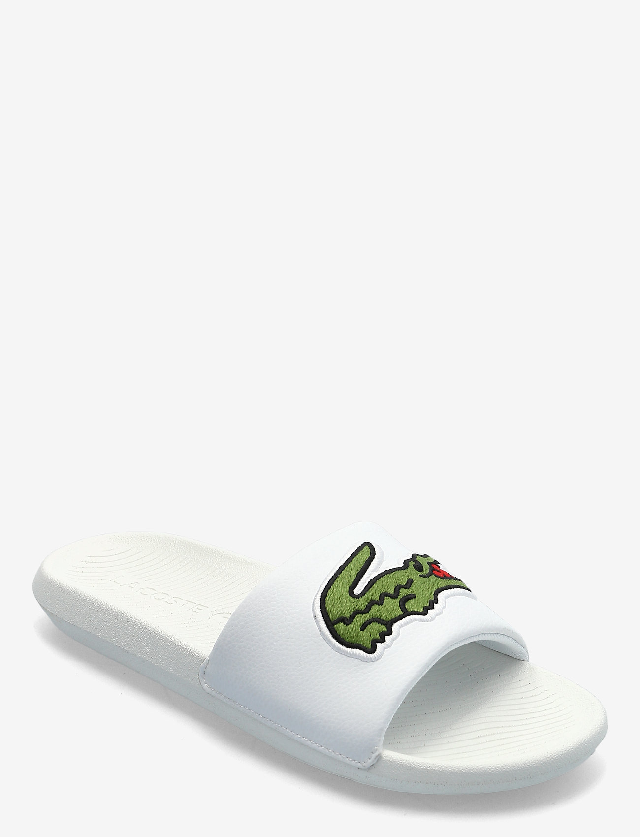 Lacoste Shoes - CROCO SLIDE 319 4 US - pool sliders - wht/grn synthetic - 0