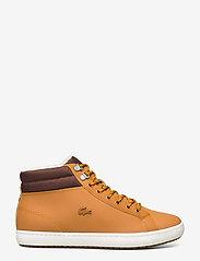 Lacoste Shoes - STRGHTSETHERM4191CMA - korkeavartiset tennarit - tan/brw lth - 1