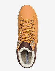 Lacoste Shoes - STRGHTSETHERM4191CMA - korkeavartiset tennarit - tan/brw lth - 3