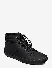 Lacoste Shoes - STRGHTSETHERM4192CMA - korkeavartiset tennarit - blk/blk lth - 0