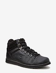 Lacoste Shoes - JARMUND PUT - ar paaugstinātu potītes daļu - blk/blk lth/syn - 0