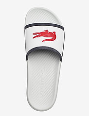 Lacoste Shoes - CROCO SLIDE TRI3 CMA - pool sliders - wht/nvy/red syn/syn - 3