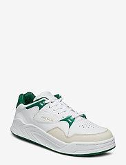 Lacoste Shoes - COURT SLAM 319 2 SMA - matalavartiset tennarit - wht/grn lth - 0