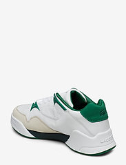 Lacoste Shoes - COURT SLAM 319 2 SMA - matalavartiset tennarit - wht/grn lth - 2