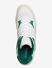 Lacoste Shoes - COURT SLAM 319 2 SMA - matalavartiset tennarit - wht/grn lth - 3