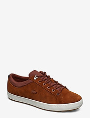 Lacoste Shoes - STRGHTSETINSU3191CMA - matalavartiset tennarit - brw/off wht lth - 0