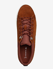 Lacoste Shoes - STRGHTSETINSU3191CMA - matalavartiset tennarit - brw/off wht lth - 3