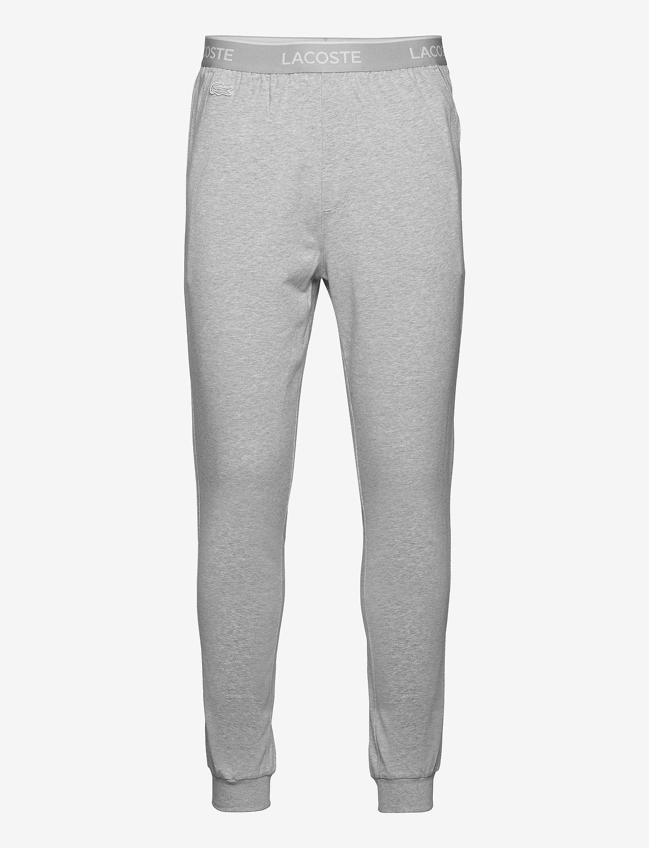 Lacoste - Pyjamas pants men - pyjama's - silver chine/white - 0