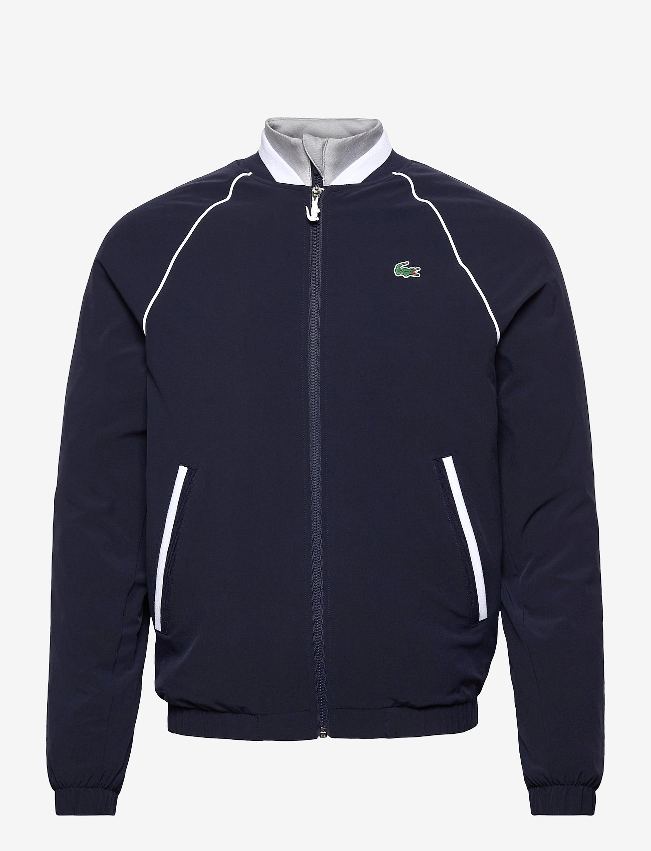 Lacoste - Men s jacket - golf jackets - navy blue/silver chine-white - 0