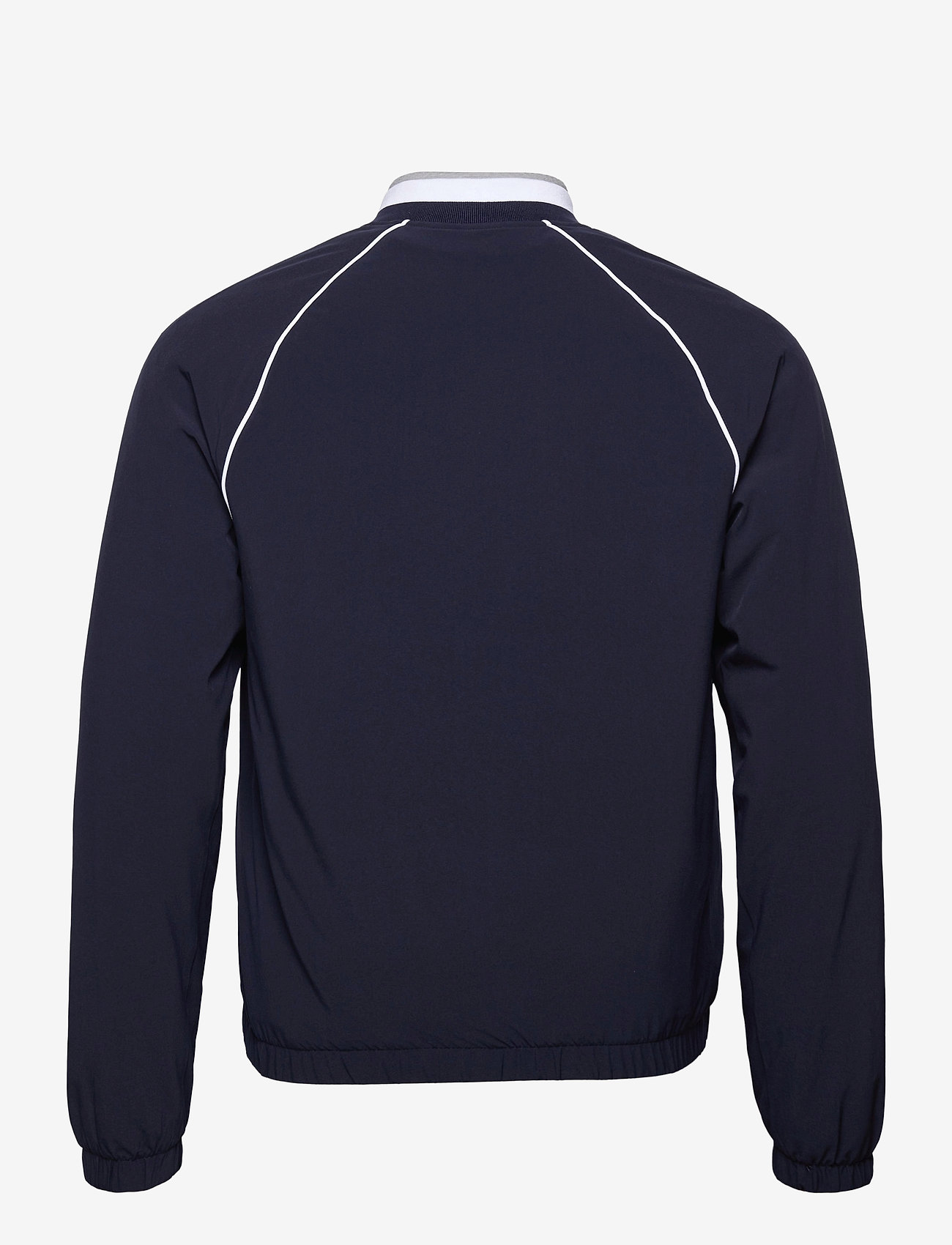Lacoste - Men s jacket - golf jackets - navy blue/silver chine-white - 1