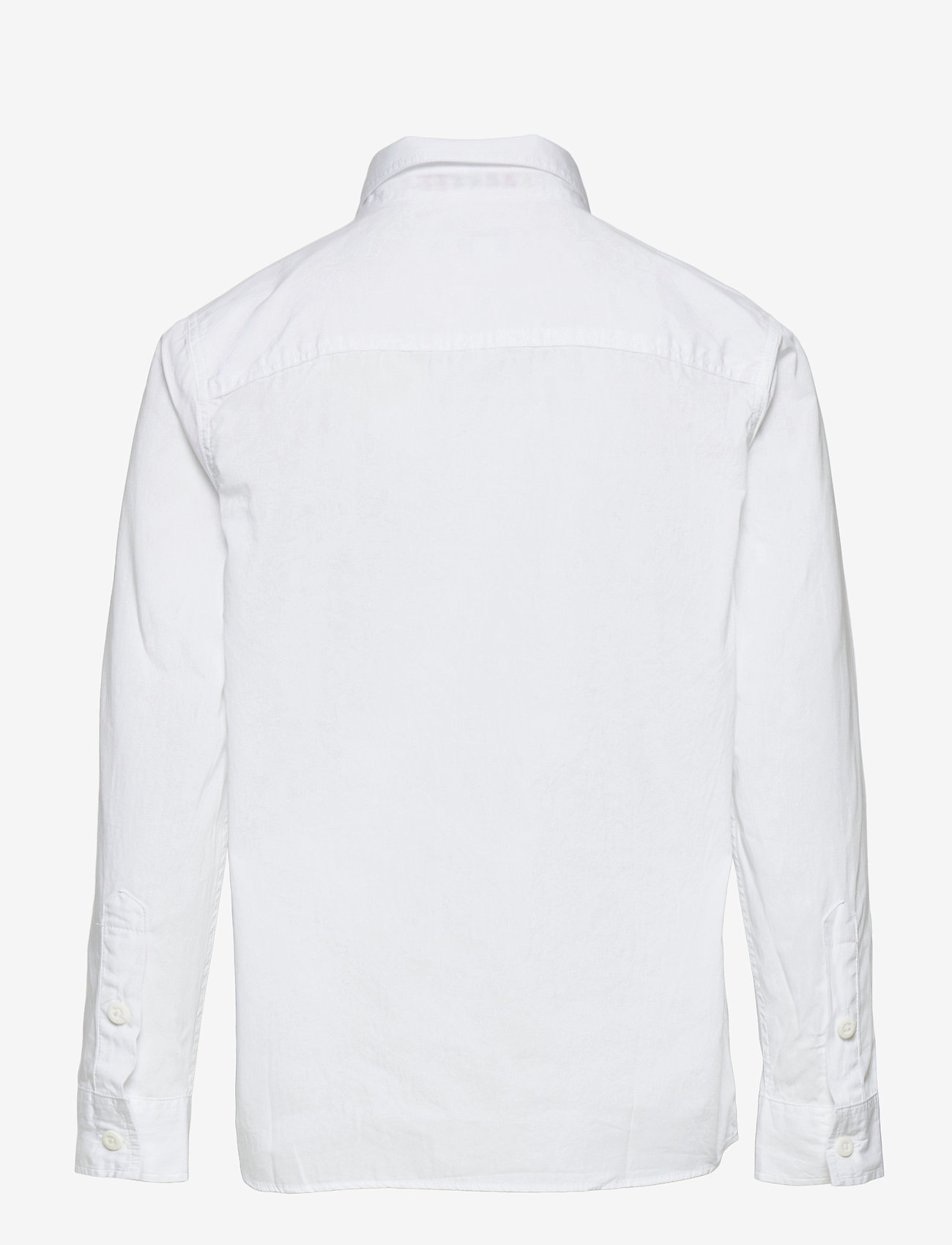 Lacoste - Children L/S woven shirt - shirts - white - 1