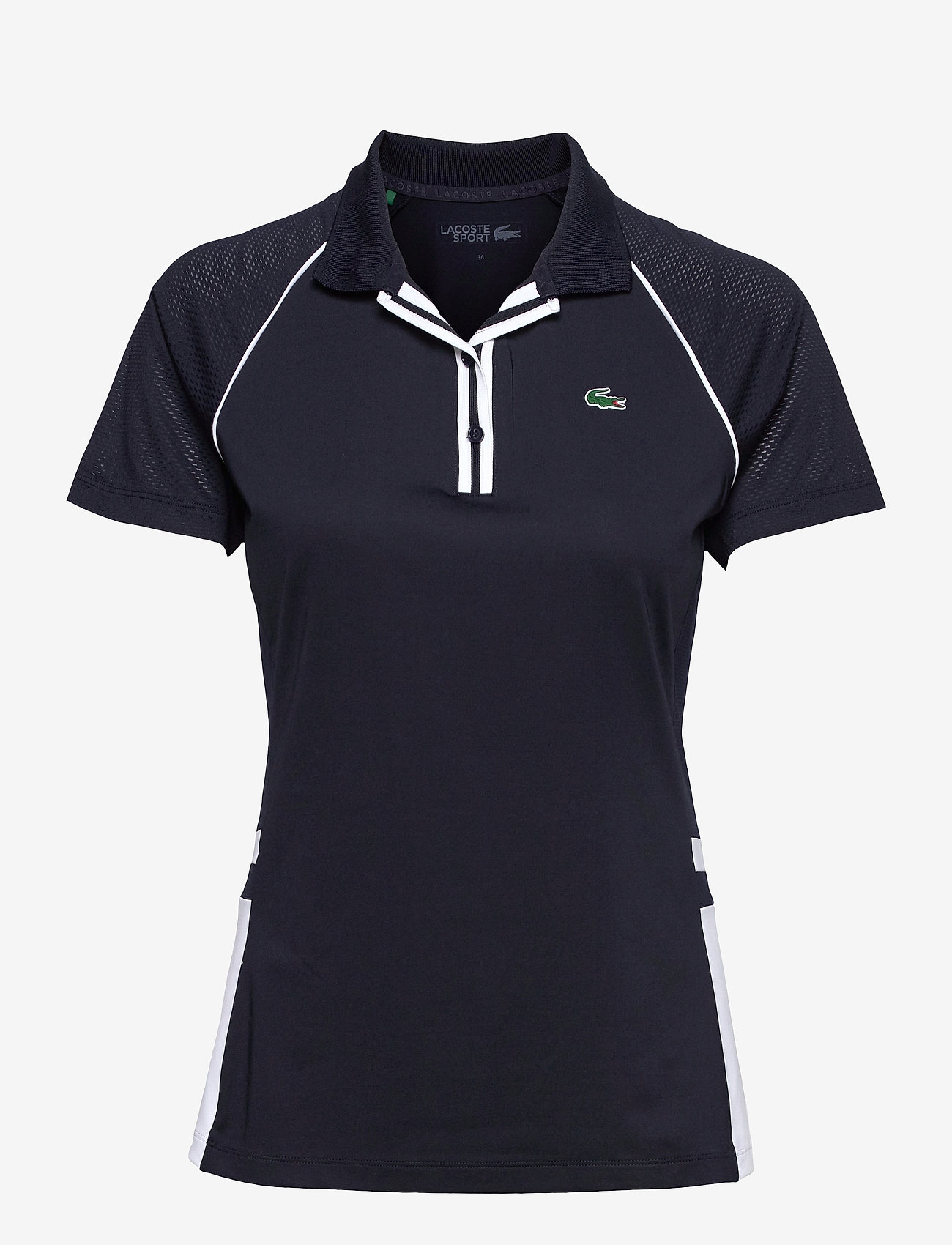 Lacoste - Women s S/S polo - polo's - navy blue/white-navy blue - 0