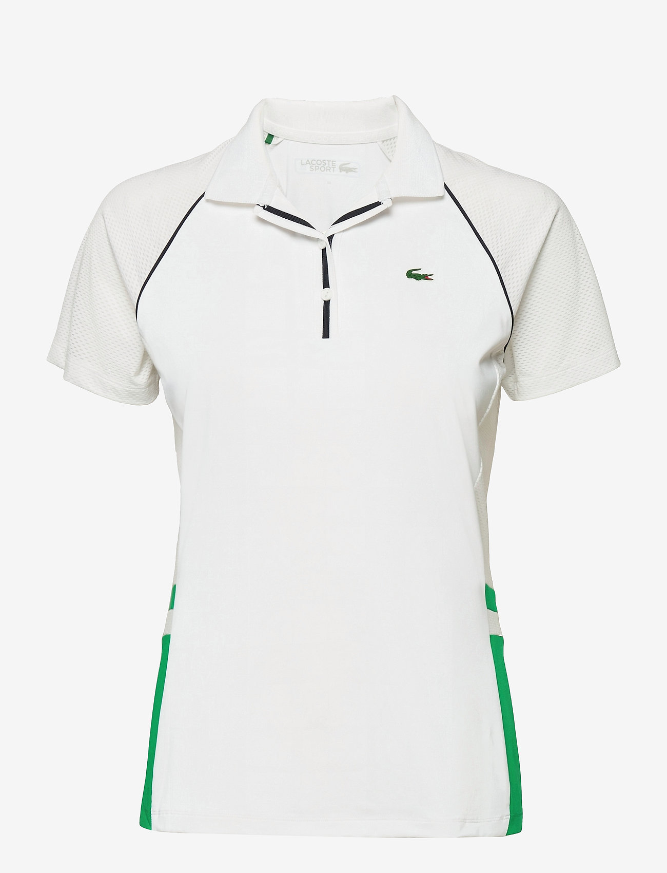 Lacoste - Women s S/S polo - polo's - white/palm green-navy blue - 0