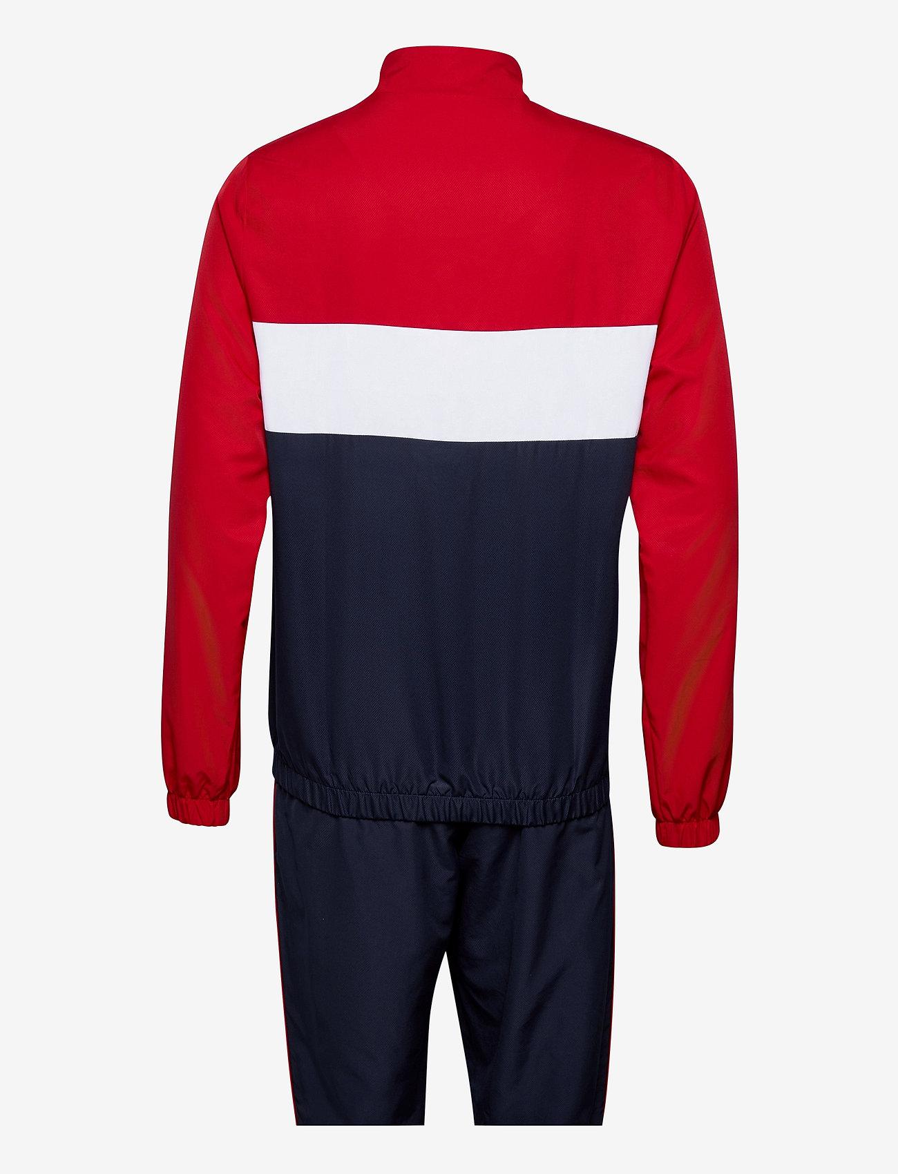 Lacoste - Men s tracksuit - dresy - ruby/navy blue-white - 1