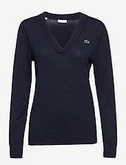 Lacoste - Women s sweater - gebreid - navy blue - 0