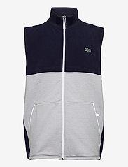 Lacoste - Men s sweatshirt - golf jackets - navy blue/silver chine-white - 0