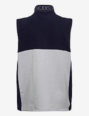 Lacoste - Men s sweatshirt - golf jackets - navy blue/silver chine-white - 1