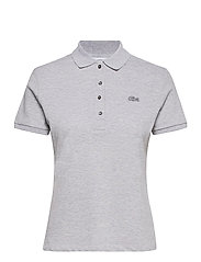 Women s S/S polo - SILVER CHINE