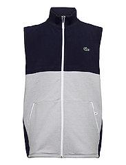 Men s sweatshirt - NAVY BLUE/SILVER CHINE-WHITE