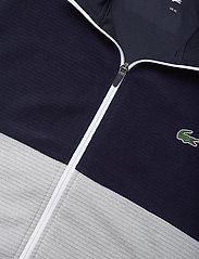 Lacoste - Men s sweatshirt - golf jackets - navy blue/silver chine-white - 2