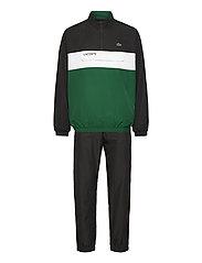 Men s tracksuit - BLACK/BOTTLE GREEN-WHITE