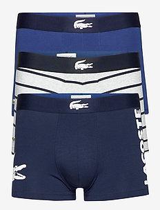 UNDERWEAR TRUNK - boxers - navy blue/white-silver chine-methylene