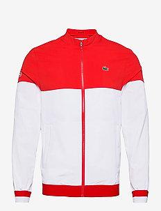 Men s jacket - golfjakker - white/fireman