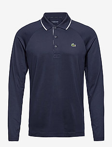 Men s L/S polo - polo's - navy blue/white