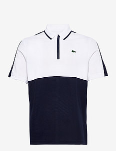 Men s S/S polo - polo's - white/navy blue-white-navy blue