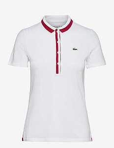 Women s S/S polo - polo's - white/ruby