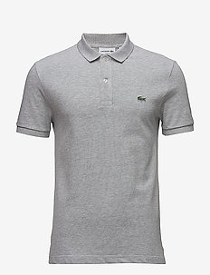 Men s S/S polo Slim fit - short-sleeved polos - silver chine