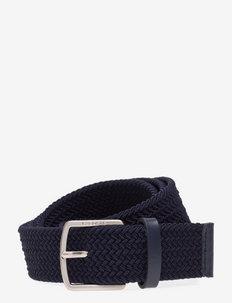 Men Belt - braided belts - light adriatic blue