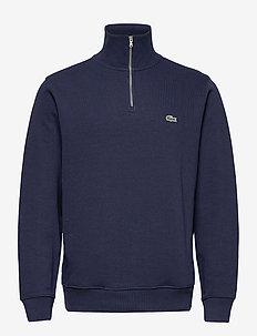 Men s sweatshirt - half zip-tröjor - navy blue