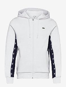 Men s sweatshirt - basic sweatshirts - white/navy blue