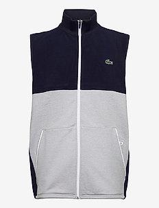 Men s sweatshirt - golf jackets - navy blue/silver chine-white