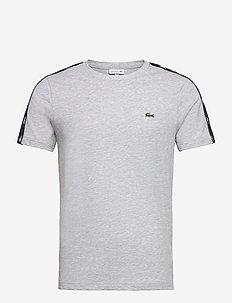 Men s tee-shirt - basic t-shirts - silver chine/black