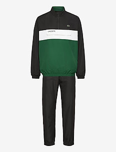 Men s tracksuit - trainingspakken - black/bottle green-white