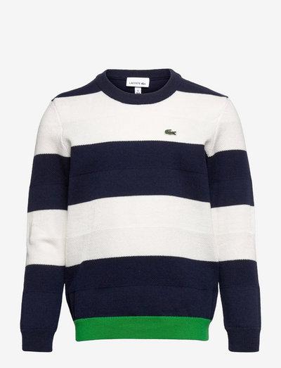 Children sweater - navy blue/flour-malachite