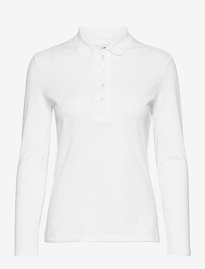 Womens S/S best polo - poloskjorter - white